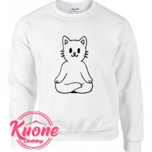 Cats Meditation Sweatshirt