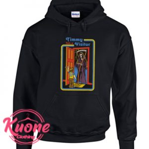 Timmy has a Visitor Hoodie